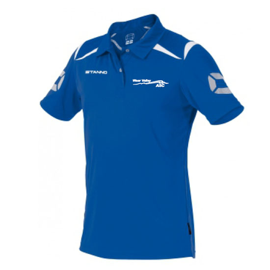 Stanno Forza polo top with left breast logo embroidered royal/white