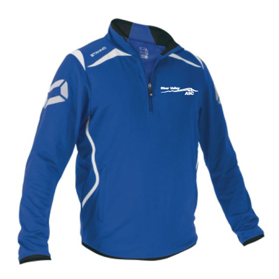 Stanno Forza half zip top with left breast logo embroidered royal/white